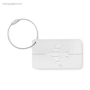 Identificador de maleta en aluminio blanco 1- RG regalos publicitarios