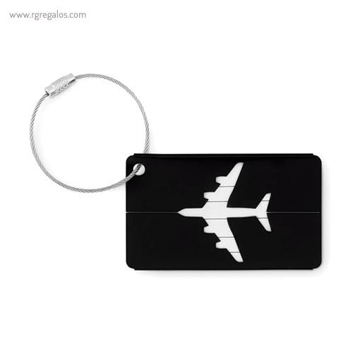 Identificador de maleta en aluminio negro - 1 RG regalos publicitarios