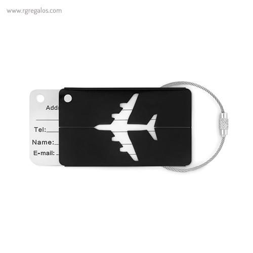 Identificador de maleta en aluminio negro - RG regalos publicitarios