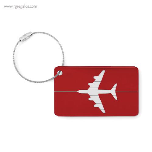 Identificador de maleta en aluminio rojo 1 - RG regalos publicitarios