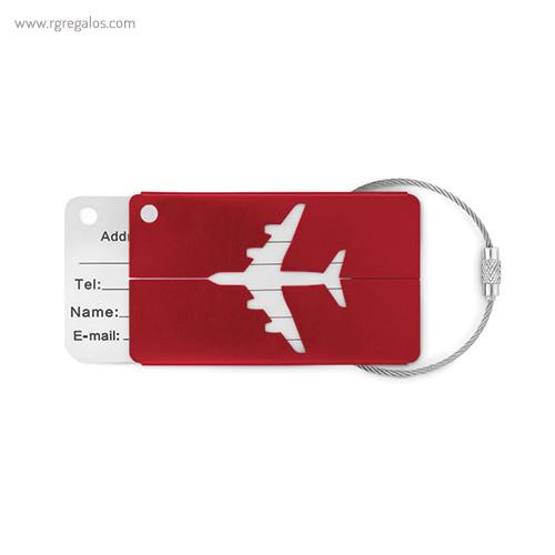 Identificador de maleta en aluminio rojo - RG regalos publicitarios