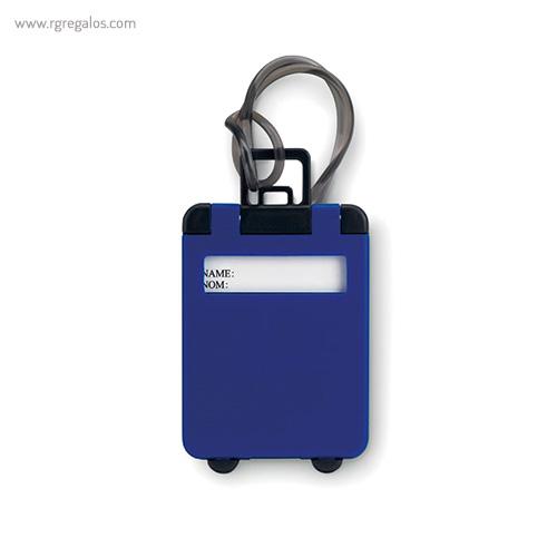 Identificador de maleta plástico azul - RG regalos publicitarios