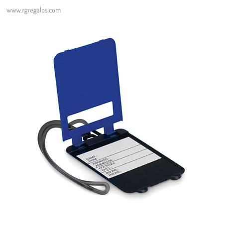 Identificador de maleta plástico azul abierto - RG regalos publicitarios