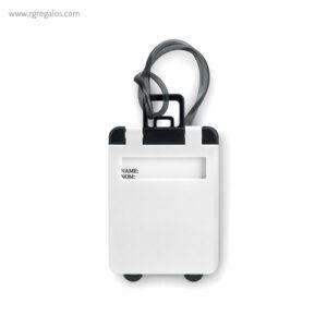 Identificador de maleta plástico blanco - RG regalos publicitarios