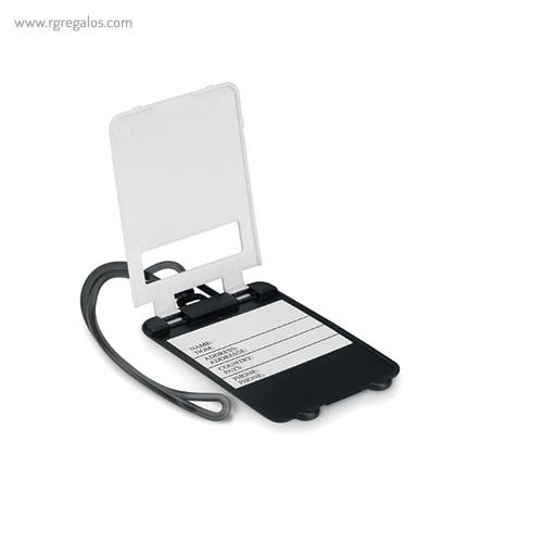 Identificador de maleta plástico blanco abierto - RG regalos publicitarios