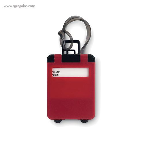 Identificador de maleta plástico rojo - RG regalos publicitarios