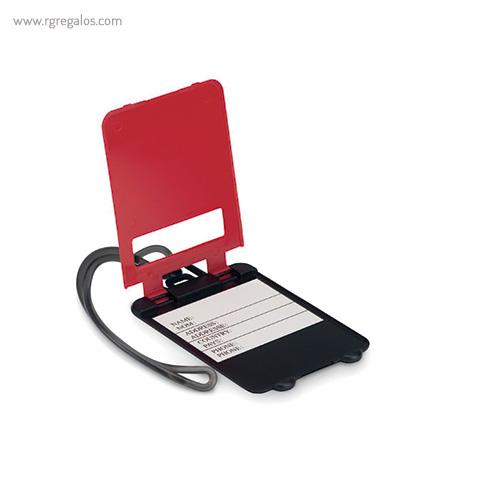 Identificador de maleta plástico rojo abierto - RG regalos publicitarios