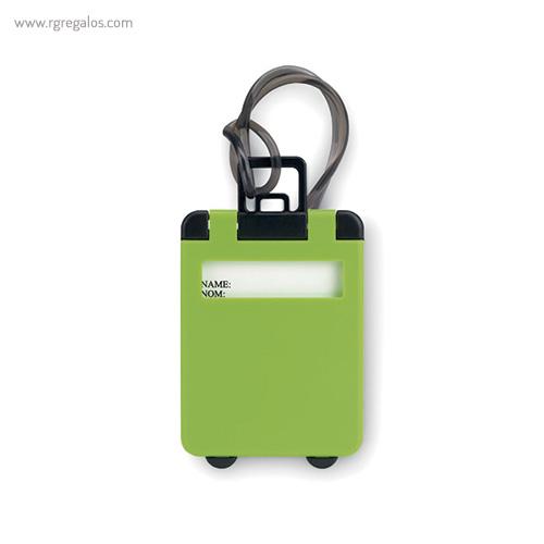 Identificador de maleta plástico verde - RG regalos publicitarios