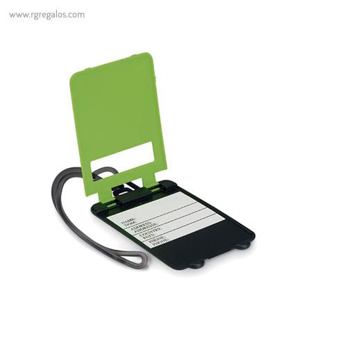 Identificador de maleta plástico verde abierto - RG regalos publicitarios