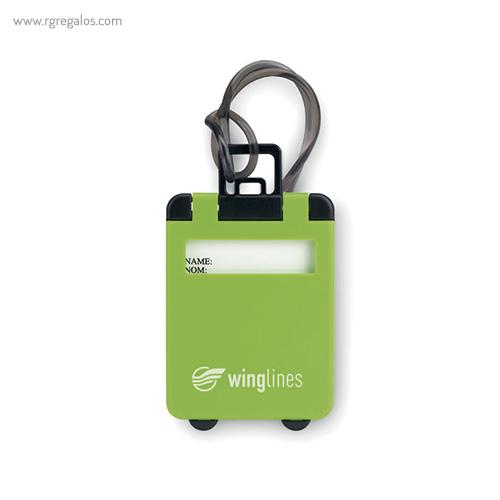 Identificador de maleta plástico negro - RG regalos publicitarios
