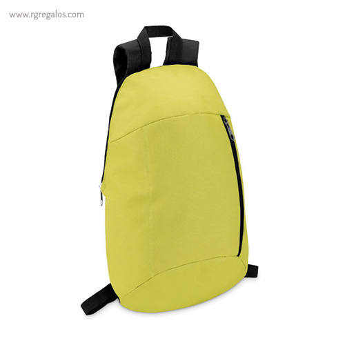 Mochila de poliéster super ligera amarilla lateral - RG regalos publicitarios