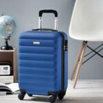 Trolley rígido de 20'' en ABS azul foto - RG regalos publicitarios
