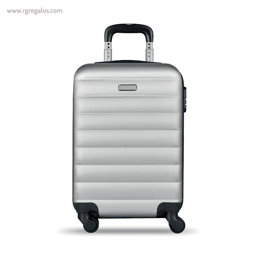 Trolley rígido de 20'' en ABS gris 1- RG regalos publicitarios