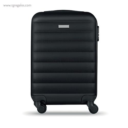 Trolley rígido de 20'' en ABS negro 2- RG regalos publicitarios