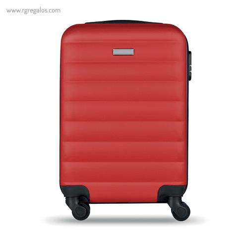 Trolley rígido de 20'' en ABS roja 2- RG regalos publicitarios