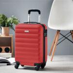 Trolley rígido de 20'' en ABS roja foto - RG regalos publicitarios