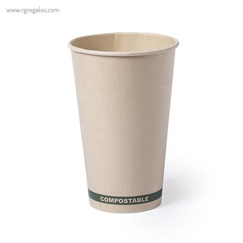 Vaso papel PLA 100% compostable blanco - RG regalos publicitarios