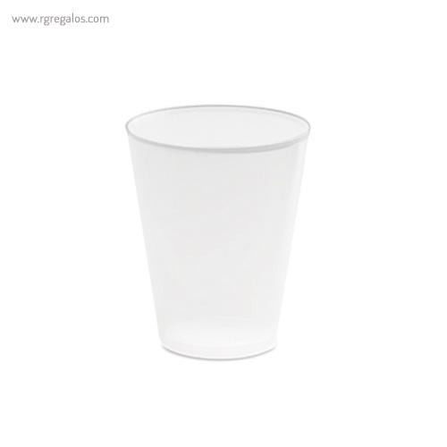 Vaso reutilizable barato en PP 450 ml blanco - RG regalos publicitarios