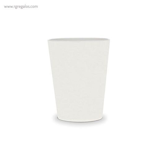 Vasos reutilizables personalizados blanco - RG regalos publicitarios