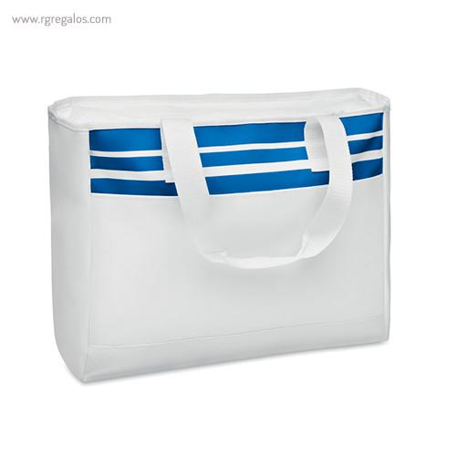Bolsa de playa en poliéster 600D azul - RG regalos publicitarios
