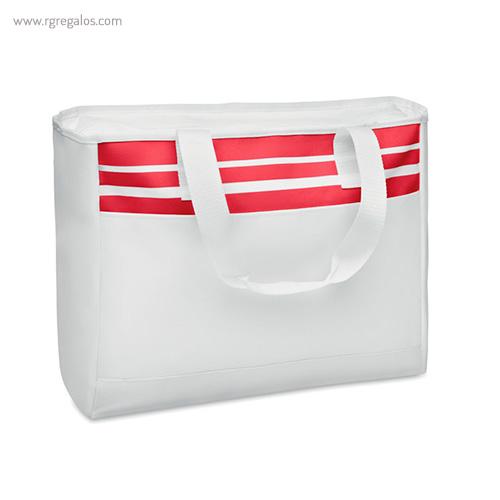 Bolsa de playa en poliéster 600D roja - RG regalos publicitarios