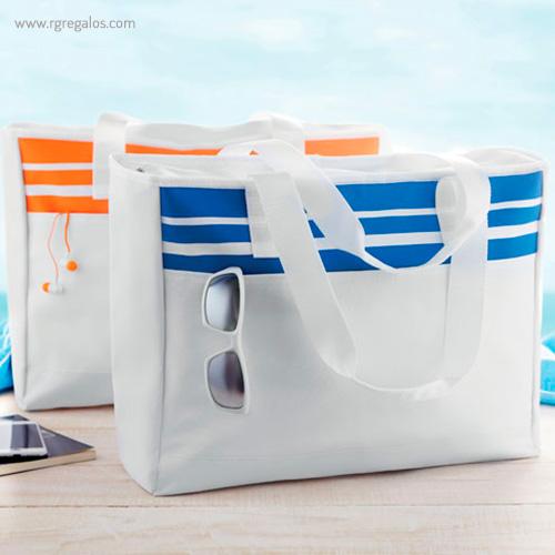 Bolsa de playa en poliéster detalle - RG regalos publicitarios