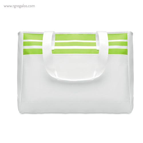 Bolsa de playa en poliéster 600D  verde - RG regalos publicitarios