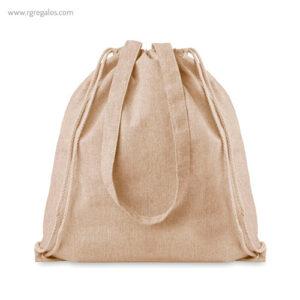 Bolsa mochila de algodón reciclado natural - RG regalos publicitarios
