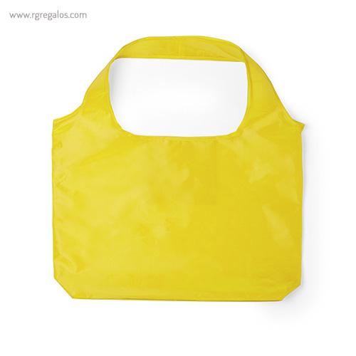 Bolsa plegable en suave poliéster amarilla - RG regalos publicitarios