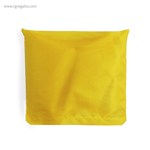 Bolsa plegable en suave poliéster amarilla plegada - RG regalos publicitarios