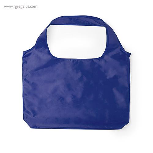 Bolsa plegable en suave poliéster azul - RG regalos publicitarios