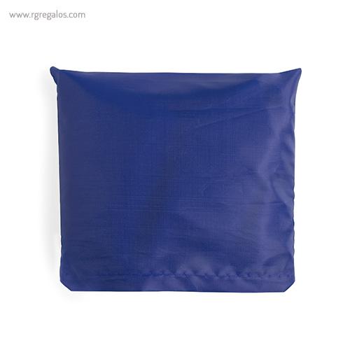 Bolsa plegable en suave poliéster azul plegada - RG regalos publicitarios