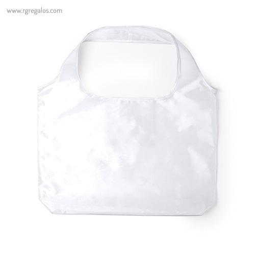 Bolsa plegable en suave poliéster blanca - RG regalos publicitarios