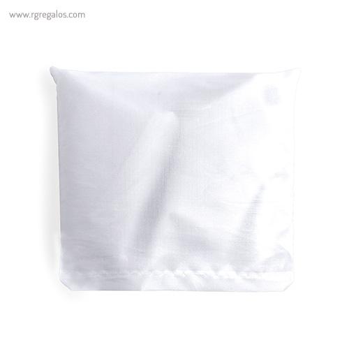 Bolsa plegable en suave poliéster blanca plegada - RG regalos publicitarios