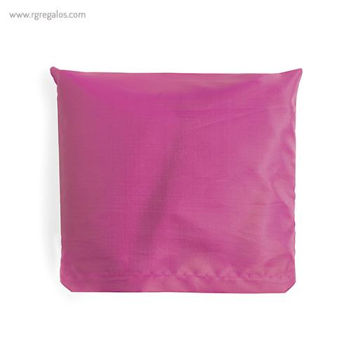 Bolsa plegable en suave poliéster blanca rosa - RG regalos publicitarios