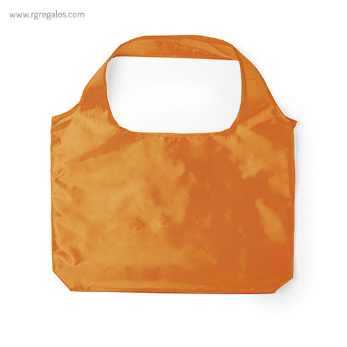 Bolsa plegable en suave poliéster naranja - RG regalos publicitarios