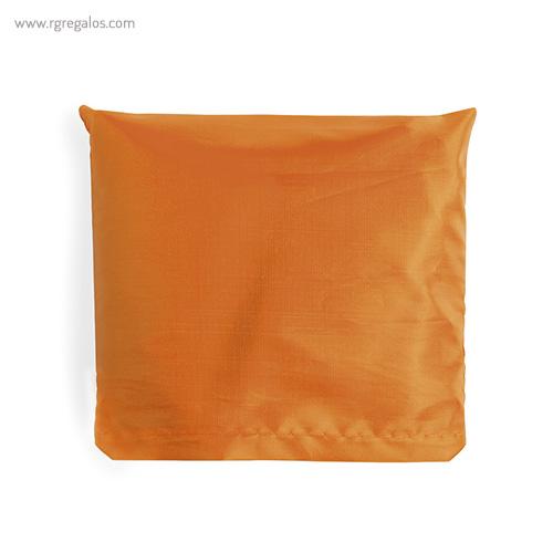Bolsa plegable en suave poliéster naranja plegada - RG regalos publicitarios