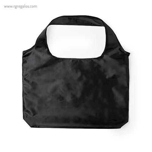 Bolsa plegable en suave poliéster negra - RG regalos publicitarios