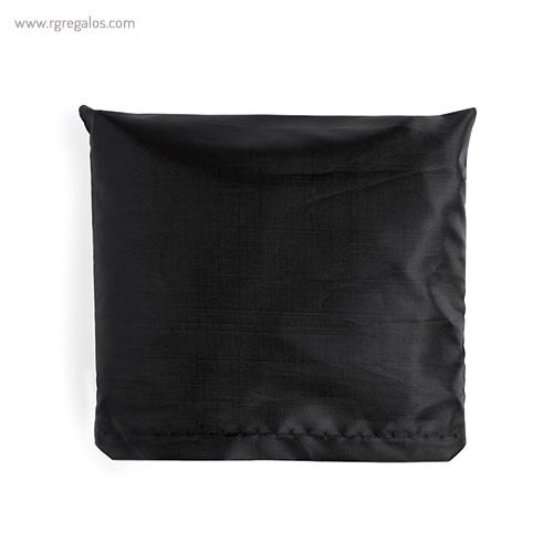 Bolsa plegable en suave poliéster negra plegada - RG regalos publicitarios