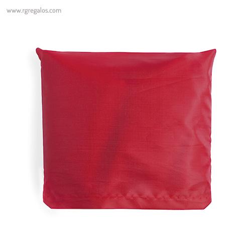 Bolsa plegable en suave poliéster roja plegada - RG regalos publicitarios