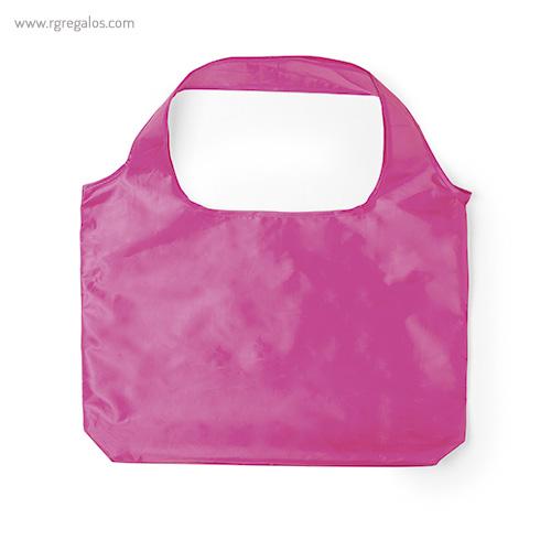 Bolsa plegable en suave poliéster rosa - RG regalos publicitarios