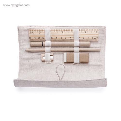 Estuche de algodón 5 piezas interior detalles - RG regalos publicitarios