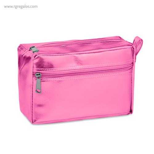Neceser en PVC brillante rosa - RG regalos publicitarios