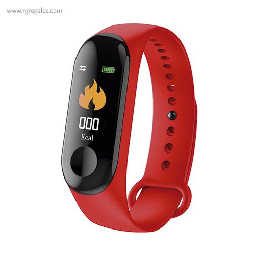 Reloj inteligente actividad diaria rojo - RG regalos publicitarios