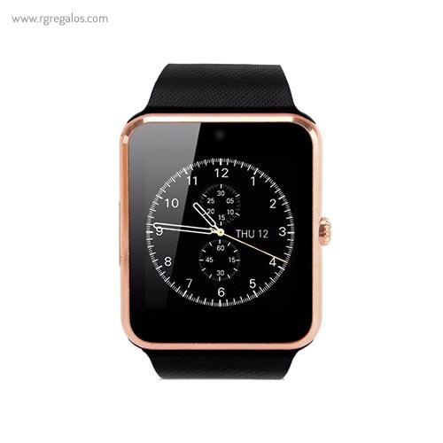 Reloj inteligente con cámara dorado - RG regalos publicitarios