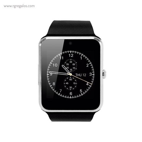 Reloj inteligente con cámara plateado - RG regalos publicitarios