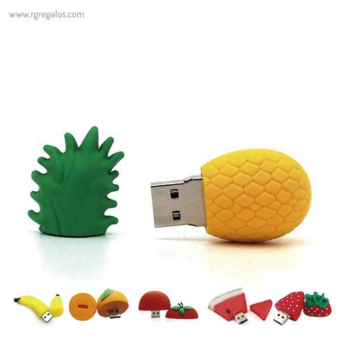 Memoria USB formas frutas 1- RG regalos promocionales
