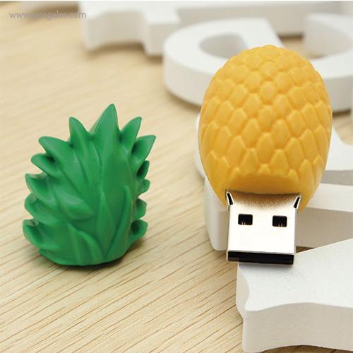 Memoria USB formas frutas piña 1 - RG regalos promocionales