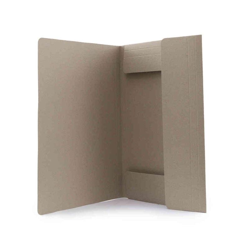 Carpeta en cartón reciclado cierre interior- RG regalos publicitarios