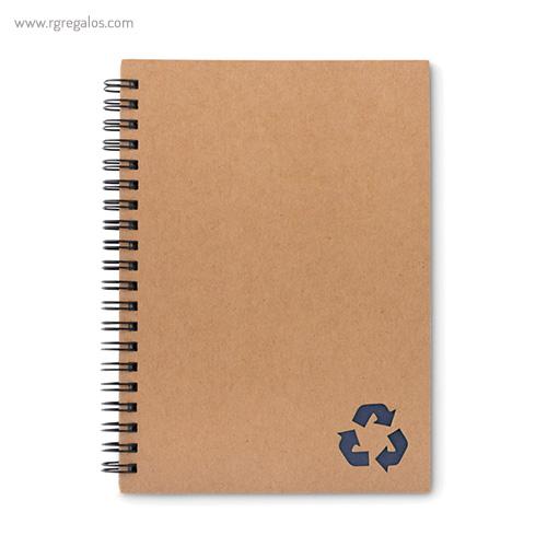 Libreta ecológica con anillas azul - RG regalos publicitarios